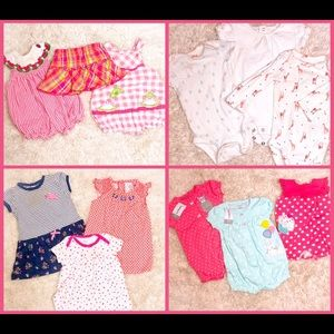 6 MO 12 PIECE Baby Girl Bundle lot
